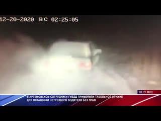 Полицейские стреляют по колёсам, чтобы остановить нетрезвого водителя
