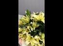Букет из кремовых лилий