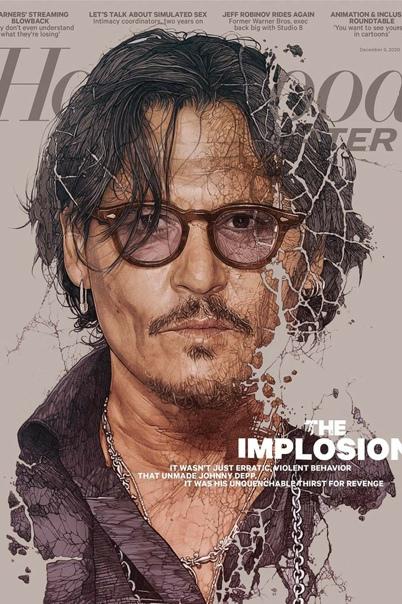 Джонни Депп на специальной обложке нового номера The Hollywood Reporter