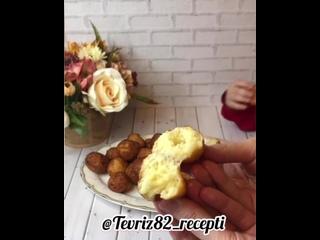 Творожные пончики (ингредиенты в описании видео)