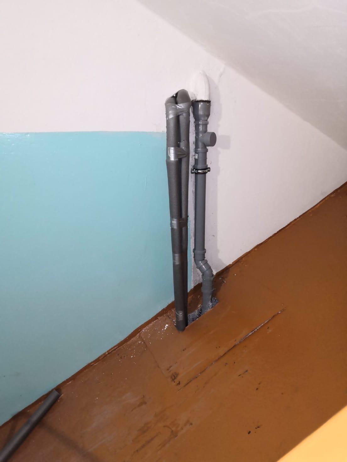 Московская 173-3,5 под. Изоляция труб отопления,ХГВ