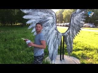 Новгородец, перекрасивший арт-объект в парке 30-летия Октября, рассказал, почему он это сделал
