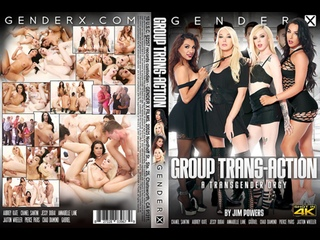 Group Trans Action - Chanel Santini, Aubrey Kate, Jessy Dubai, Annabelle Lane, Gabriel, Chad Diamond, Pierce Paris