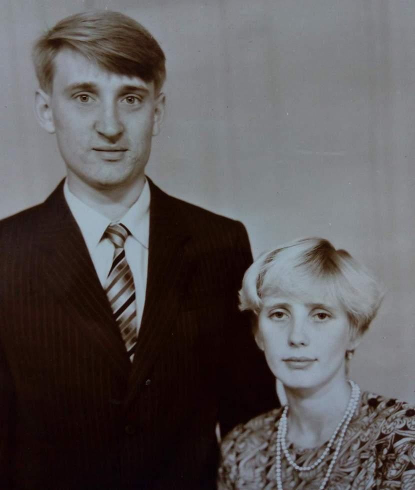 С женой Анжелой