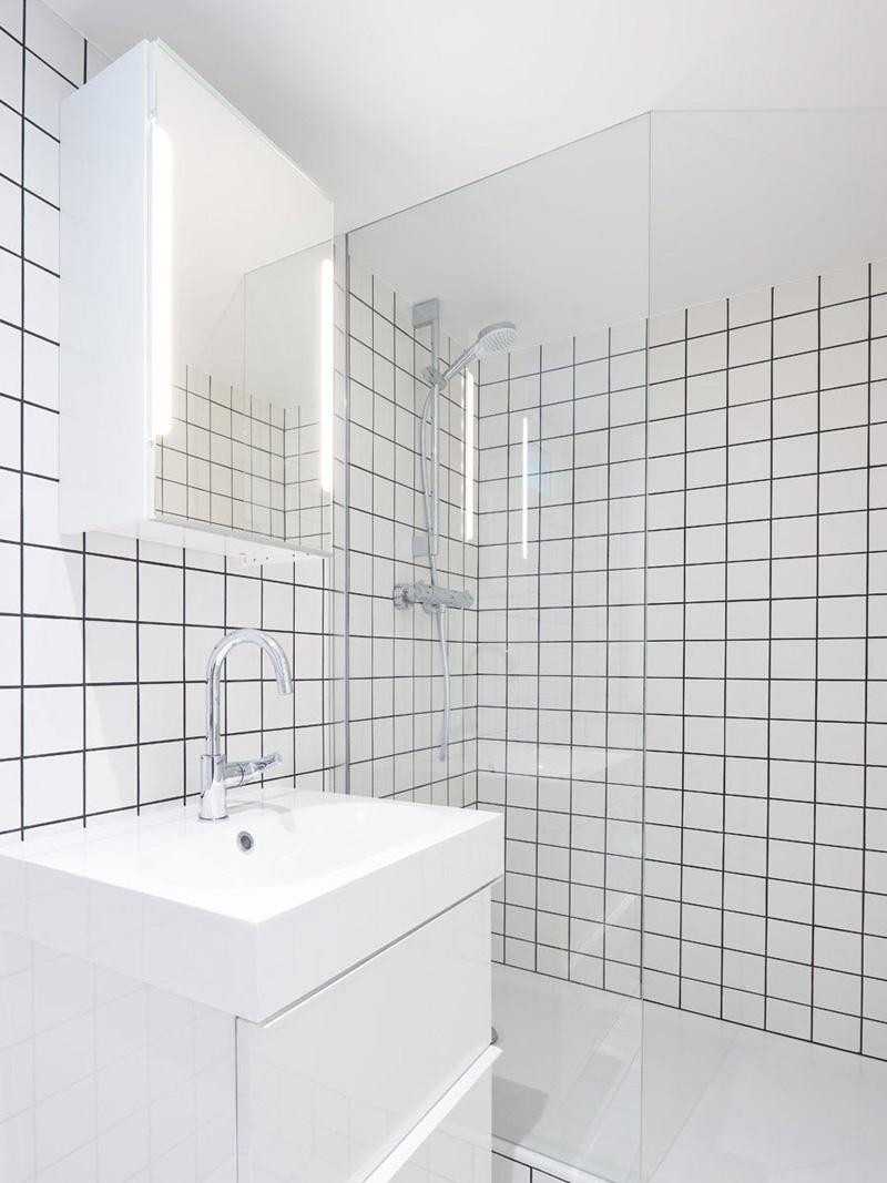 Жилая студия 30 м из архитектурной мастерской в Париже.