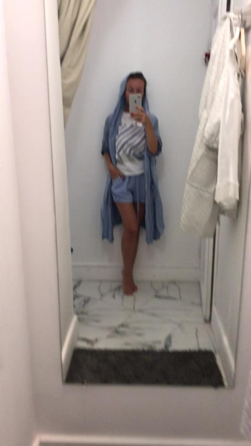 кардиган лен, шорты и футболка