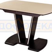 Стол с камнем - Румба ПО-1 КМ 06 ВН 03-1 ВН, венге, камень песочного цвета