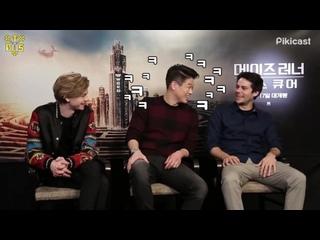 "[TBSubs] Интервью ""Piki Movie"" с кастом ""Maze Runner: The Death Cure"" (Томас, Ки Хон, Дилан) (рус.саб)"