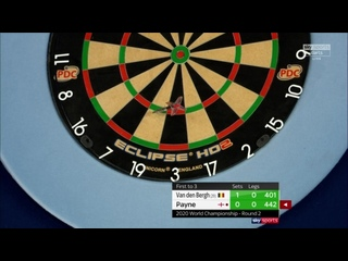 Dimitri Van den Bergh vs Josh Payne (PDC World Darts Championship 2020 / Round 2)
