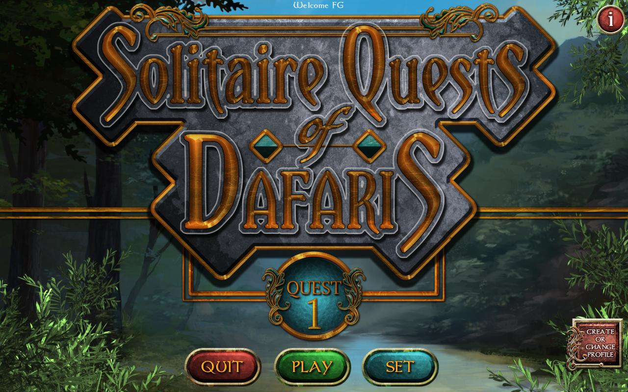 Solitaire Quests of Dafaris: Quest 1 (En)