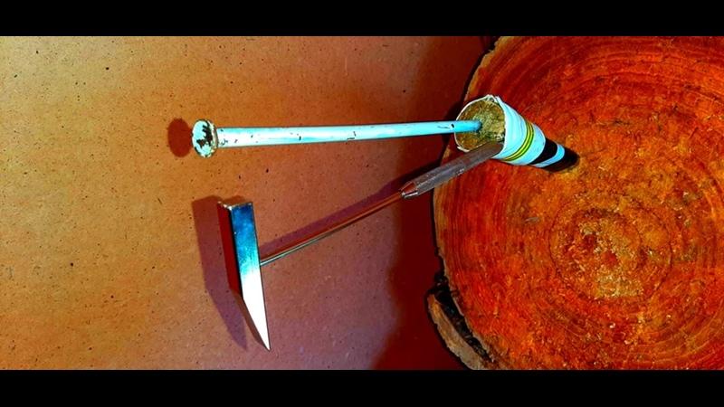 Метание молотка и гвоздя в стиле робин гуда