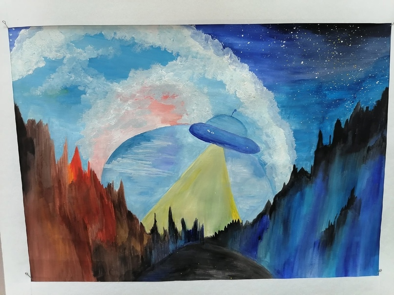 Выставка рисунков, посвящённая 60 -летию полёта в космос Юрия Гагарина, изображение №21