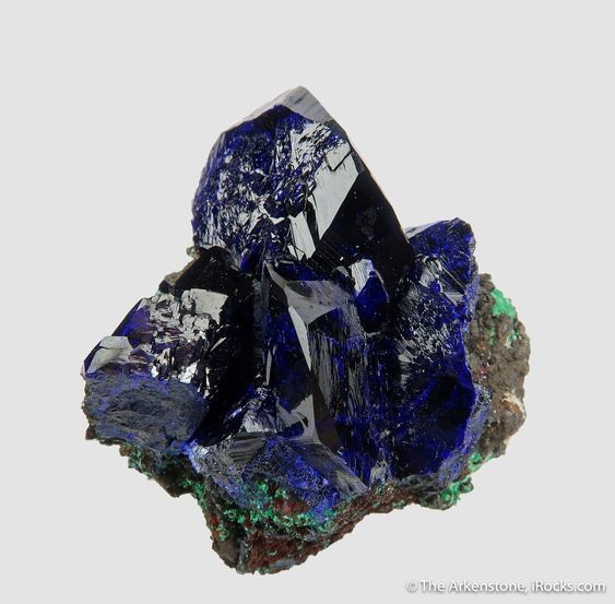 Azurite with Malachite - CCHB-12 - Liufengshan Mine - China Mineral Specimen