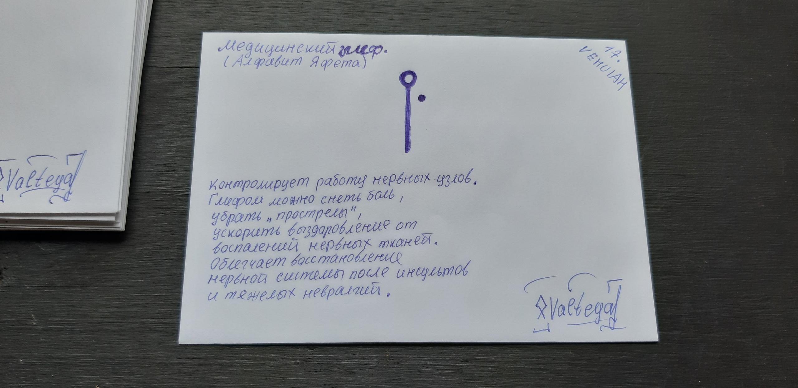 Конверты медицинские глифы. Алфавит Яфета PPThI06gNlM