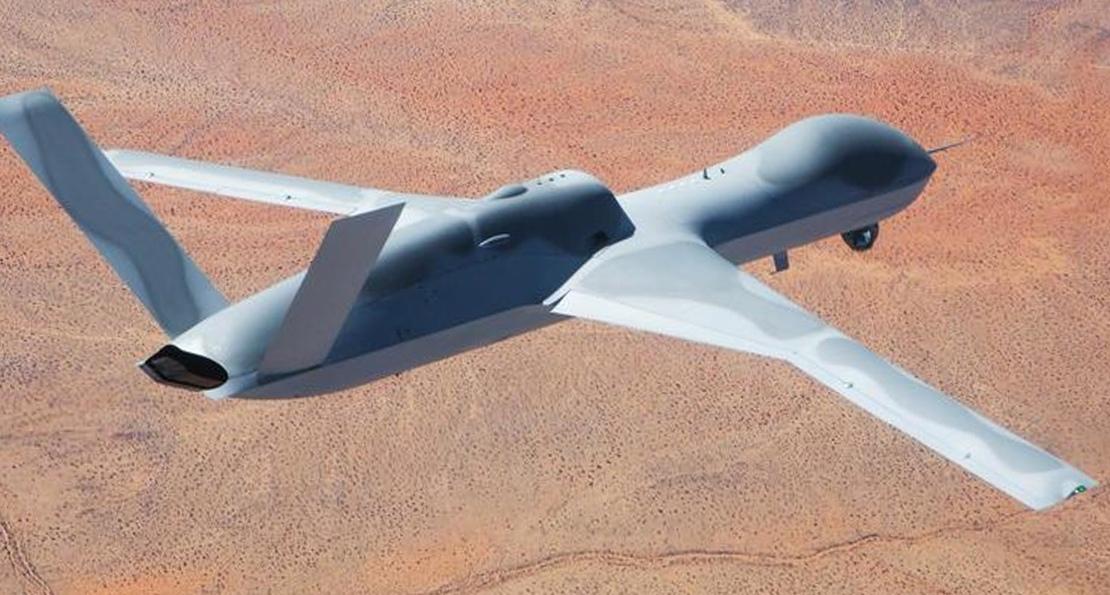Боевой дрон в полете