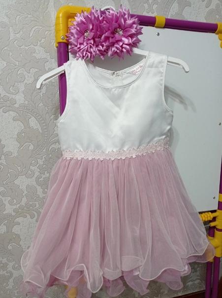 Платье+банты на голову. Цена 500р #детскаяодежда@b...