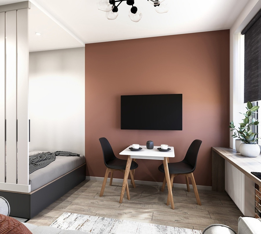 Концепт квартиры-студии 24 кв.