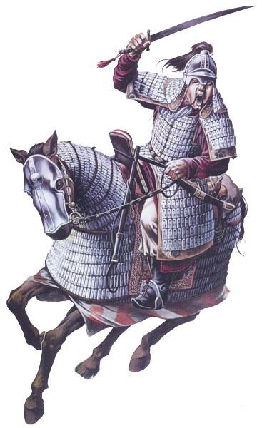 Монгольский воин. Иллюстрация.