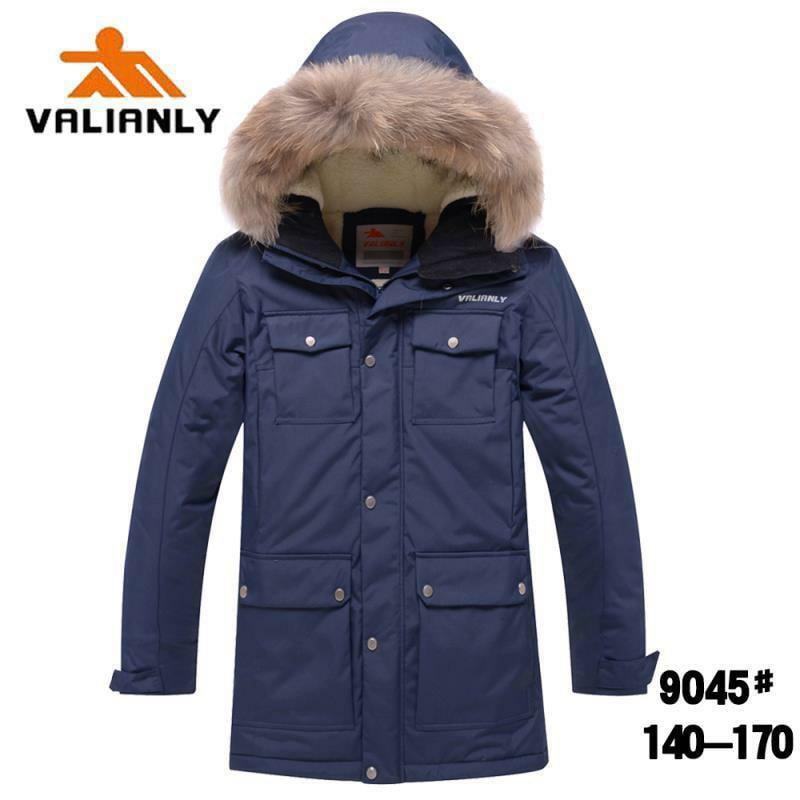 Зимняя парка Valianly 9045 синяя