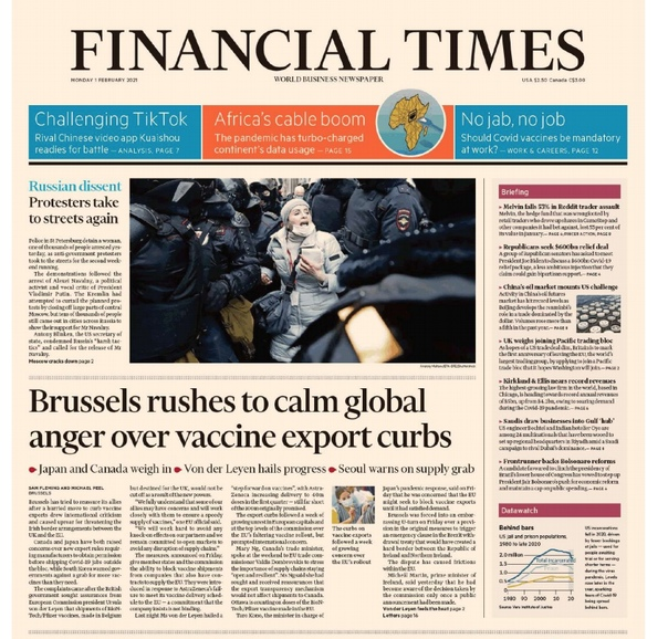 FINANCIAL TIMES - USA - FEBRUARY 01 2021