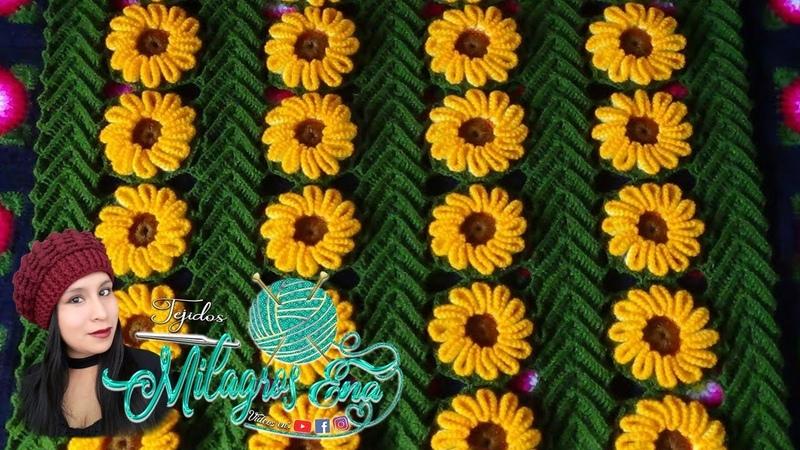 VIDEO COMPLETO DE Hojas y Flores tejidas a crochet para colchas o tapetes