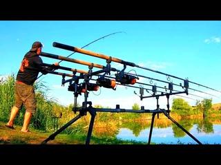 Отличная Рыбалка на Флэт Фидер Поклёвки онлай. Охота на Карпа