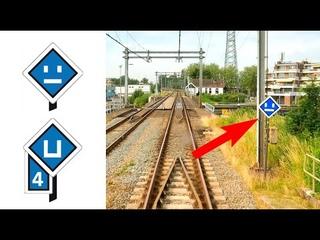 Spoorwegseinen uitgelegd DEEL 25: Uitschakelbord: Enkhuizen - Amsterdam CABVIEW HOLLAND 28jun 2021