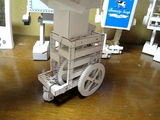 Paper robot Candy boy-prototype  vol.2  (Paper Automata)