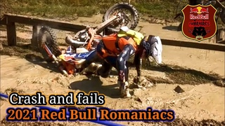 2021 Red Bull Romaniacs Crash and fails day 4