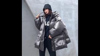 Куртка женская, теплая, с хлопковой подкладкой, с капюшоном и карманами