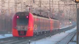 ES2G train Novopodrezkovo platform Электропоезда ЭС2Г Ласточка платформа Новоподрезково