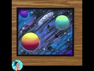 Как просто нарисовать космос