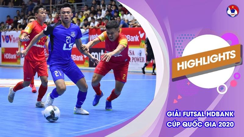 Highlights Thái Sơn Nam Savinest Sanatech Khánh Hòa Futsal HDBank Cúp Quốc gia 2020