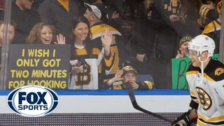 Tyler Seguin on the '2 minutes for hooking' sign