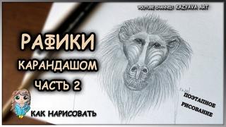 Как нарисовать РАФИКИ карандашом. Король лев. Часть 2. Прорисовка шерсти