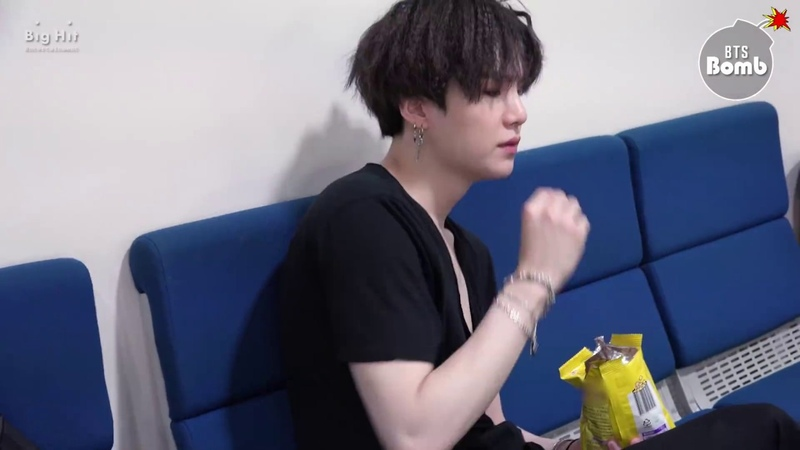 BANGTAN BOMB SUGA is eating snack BTS 방탄소년단