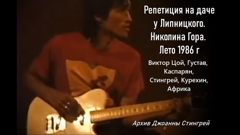 Виктор ЦОЙ. Репетиция на даче у Александра Липницкого. Лето 1986 год