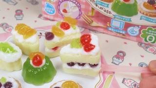 Sweets Party Dessert Cake Making Kit - Popin Cookin ( Kracie / DIY Miniature )