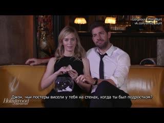 Эмили Блант и Джон Красински: Интервью для The Hollywood Reporter