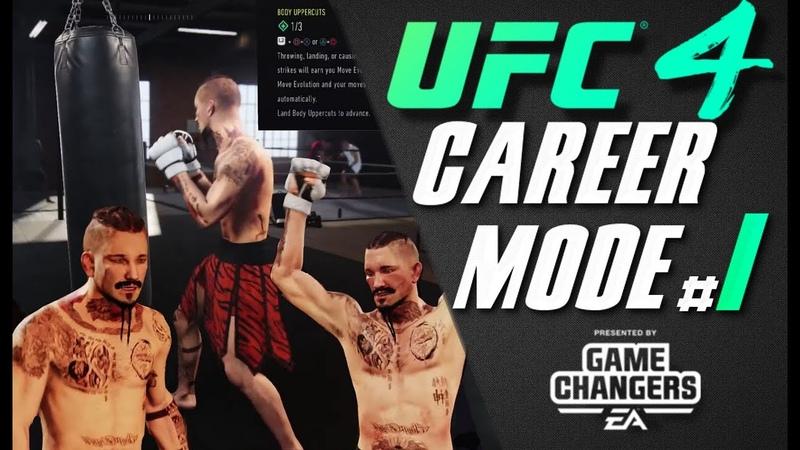 UFC 4 CAREER MODE Episode 1 Amatuer Smokers and Training