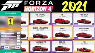 FORZA HORIZON 4 2021   ALL CARS   FULL VEHICLES LIST [4k]