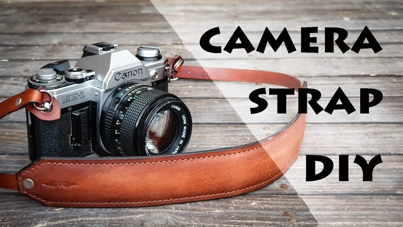 How to make a Leather Camera Strap DIY Leather Strap Leather Crafting ASMR PDF pattern
