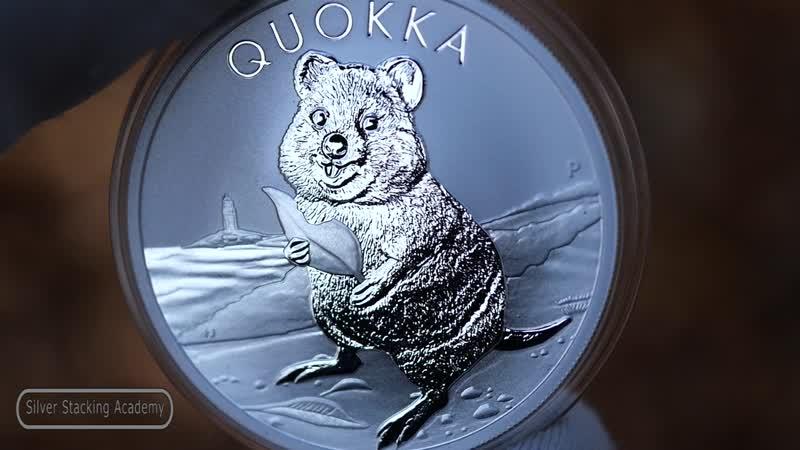 Серебряная монета КВОККА 2020 Австралия QUOKKA silver coin