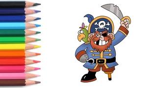 Алфавит для детей учим буквы весело мультики раскраска как нарисовать пирата азбука простые слова