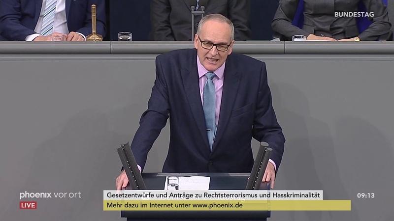 Roman Reusch AfD zu Rechtsterrorismus und Hasskriminalität am 12.03.20