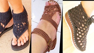 All New Styles Of Hand Made Crochet Foot Wear Sandals Shoes Flip Flop For Casual And Formal Wear