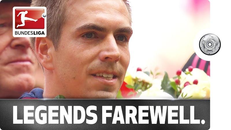 Auf Wiedersehen Lahm Adios Alonso Two Bundesliga legends bid farewell