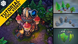 Creating a Stylized Environment inspired by Heroes of the Storm [FREE GAME ART TUTORIAL]