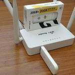 Комплект wi-fi router с 4G Модемом